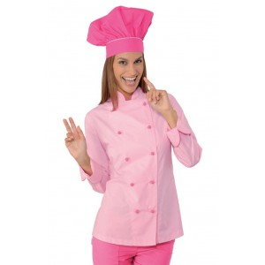 Giacca-Lady-Chef-Rosa